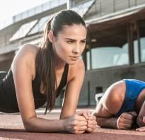 Упражнение планка для начинающих