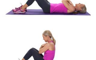 Упражнения для косых мышц живота для женщин