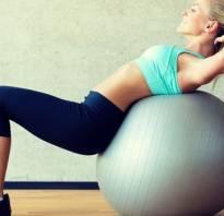 Упражнения для живота на фитболе