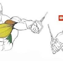 Упражнения в кроссовере на грудь