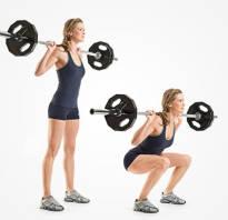 Для женщин упражнения со штангой