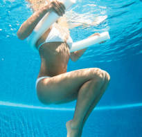 Упражнения в бассейне с нудлами